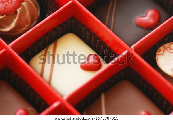 Close-Up Of A Box Of Chocolates