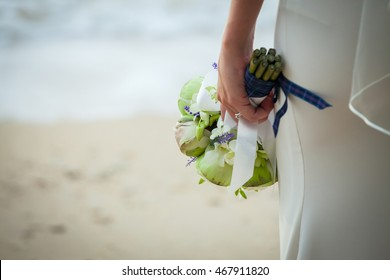 close-up of bridal bouquet for wedding day.