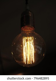 Close-up of Bright Light Bulb