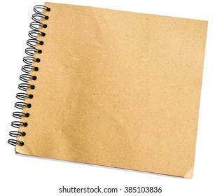 Closeup brown blank paper