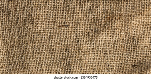 Closeup of brown jute texture background