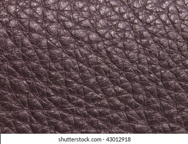 Closeup of a brown leather texture