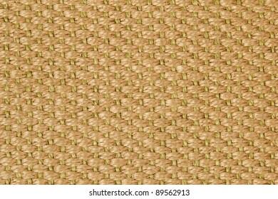 Closeup of a brown sisal carpet