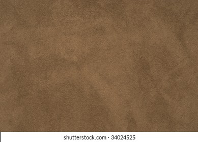 Closeup of brown suede fabric