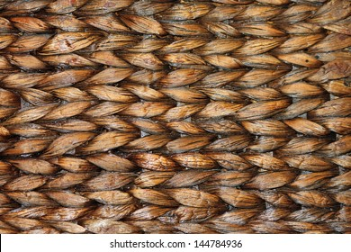 Close-up of a Brown Woven Basket