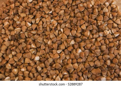 The close-up of buckwheat background
