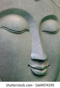 Closeup of Buddha head  idol