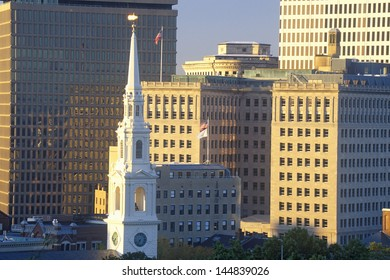 Close-up of the buildings in Providence, RI