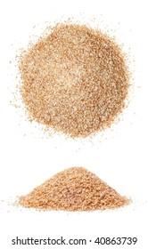Closeup of bulgur wheat isolated on white