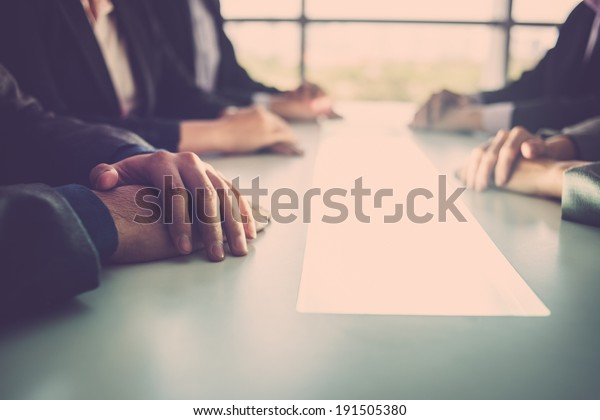 Close-up of business meeting