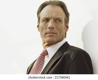 Close-up of a businessman looking away