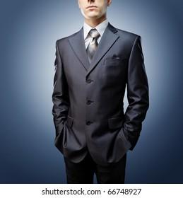 closeup businessman suit