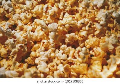A closeup of butter popcorn, background, wallpaper