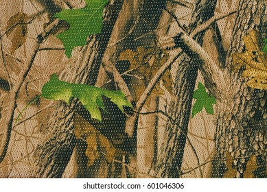 Closeup camouflage pattern for hiding, disguising. Detailed texture of dried leaf