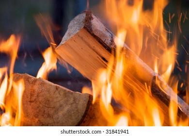 Closeup of campfire