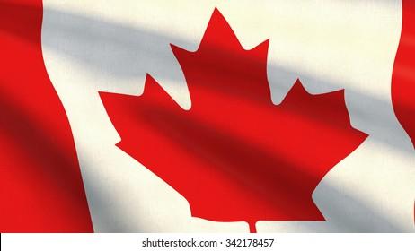 Closeup of Canada flag background