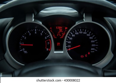 Closeup car mileage , Dashboard