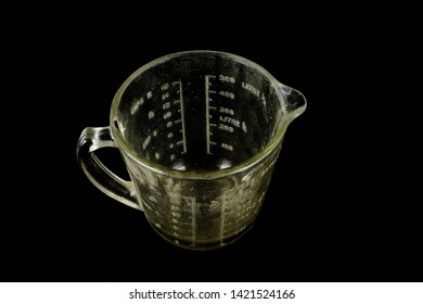 Close-up of carafe jug Object on a black Background