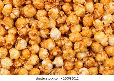 Closeup of Caramel Corn Fills the Frame