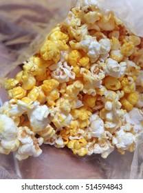 Closeup Caramel popcorn