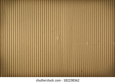 Closeup of cardboard textured surface
