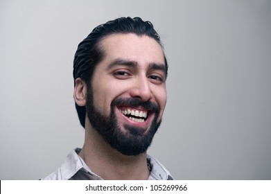 close-up of a caucasian man smiling