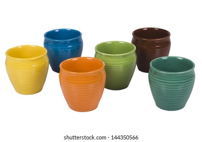 Close-up of ceramic pots