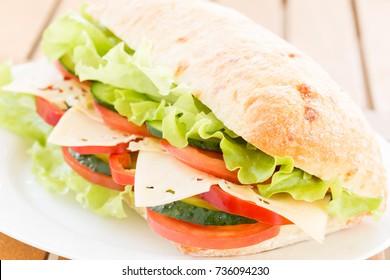 Close-up of Cheese Sandwish
