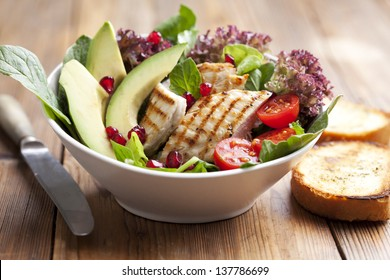 closeup of chicken salad