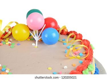 Closeup child birthday cake