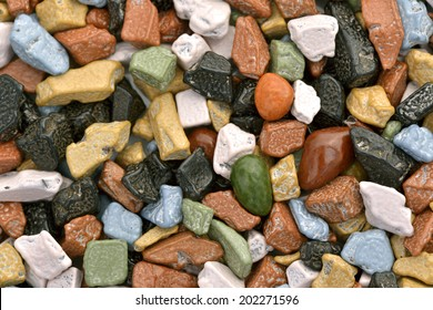Close-up of chocolate pebbles to use as background
