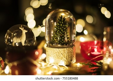 Closeup of Christmas snowball