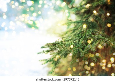 Closeup of Christmas-tree background