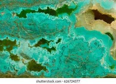 Close-up of chrysocolla malachite design