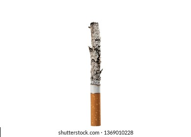 close-up cigarette isolated on a white background