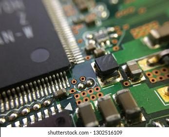 Closeup of Circuit Computer board