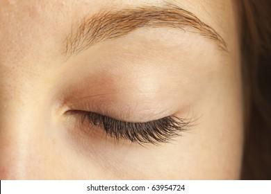 Close-up of closed eye