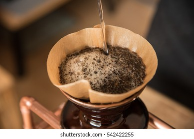 Closeup of coffee drip