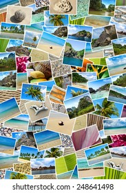 Close-up collage with Thailand travel images