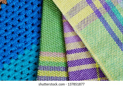 Closeup color fabric for background use