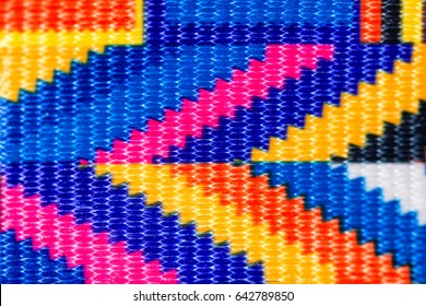 Closeup of colored fabric texture, background