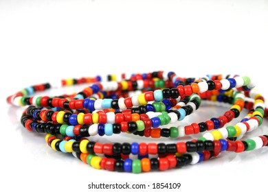 Close-up colorful beads.
