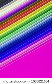 closeup of colorful paper