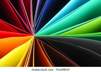 closeup of colorful paper texture