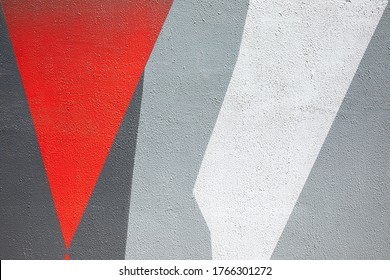 Closeup of colorful urban wall texture. Modern pattern for wallpaper design. Creative urban city background. Abstract open composition. Minimal geometric style, solid colors