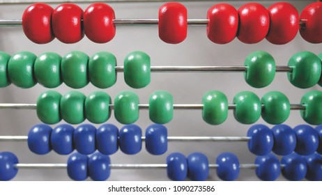 Close-up Colorful Wooden Abacus For Counting Learning