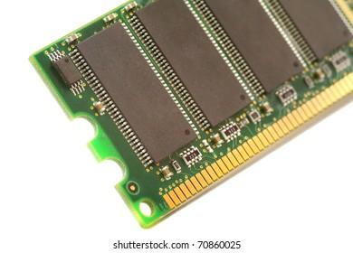 closeup of computer ram