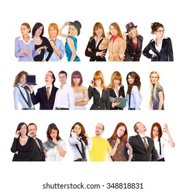 Closeup Concept Colleagues Together