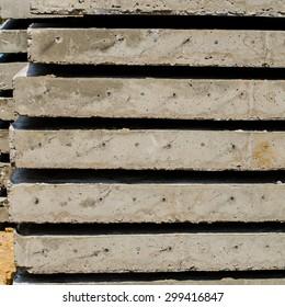 Close-up concrete pillars