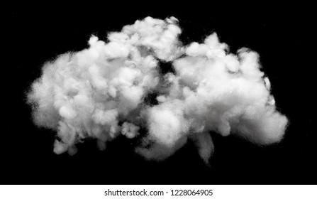 Closeup of cotton fiber on black background